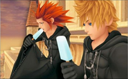Axel and Roxas eating ice cream