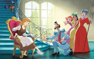 Disney Princess Cinderella's Story Illustraition 13