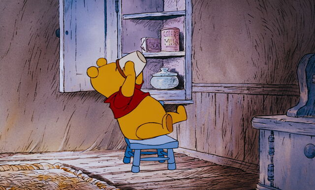 File:Winnie the Pooh is about to get the last bit in the honeypot.jpg