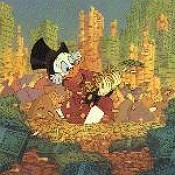 Scrooge mcduck happy