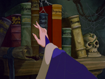 The Evil Queen picking out a book