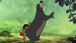 Mowgli Scratching Baloo's Back