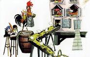 Chanticleer With Hens