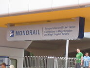 Monorail entry epcot