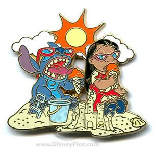 File:WDW - Disney Signature Collection - Lilo and Stitch (4 Pin Set) Ice Cream at the Beach.jpeg