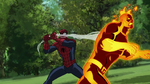 Spider-Man has Molten Man USMWW