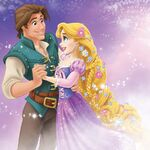 Rapunzel and Flynn Promational Art
