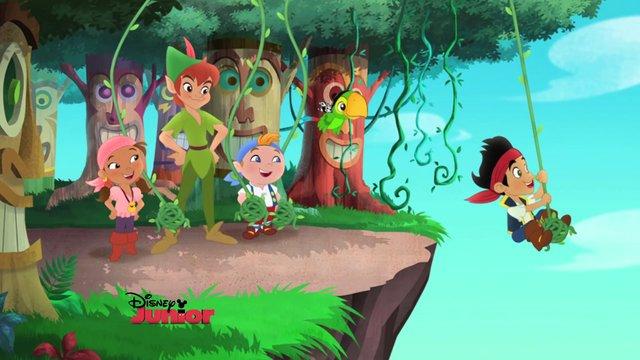 File:Peter with Jake &crew- Peter Pan returns.jpg