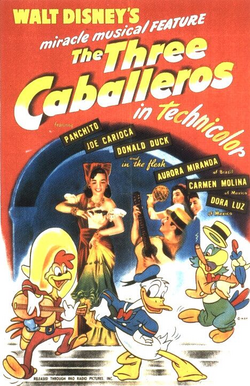 Three caballeros poster