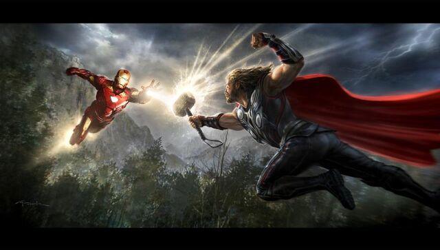File:Iron Man vs Thor Concept Art.jpg