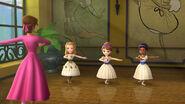 Amber, Sofia, and Kari doing Ballet