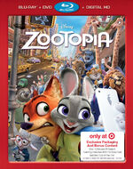 Zootopia Blu-ray Exclusive Cover
