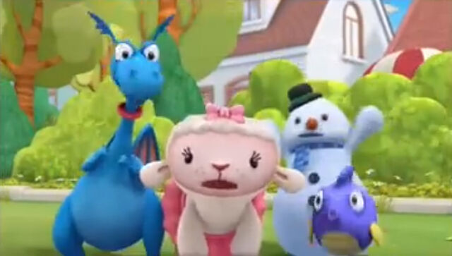 File:Lambie, stuffy, chilly and squeakers yell.jpg