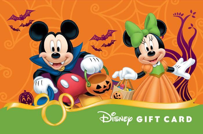 image mickey and minnie halloween 2014 disney gift cardjpg disney wiki fandom powered by wikia - Mickey Minnie Halloween