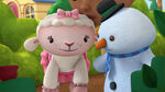Lambie and chilly at the bushes