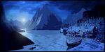 Arendelle in ice artwork