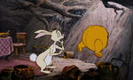 Rabbit found out Pooh Bear is stuck