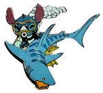 Disney Auctions - Stitch Underwater (Stitch with Shark)
