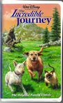The Incredible Journey VHS - (Front)
