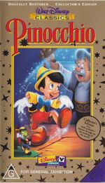 Pinocchio au vhs ce