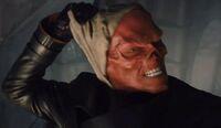 Red Skull eschews his mask