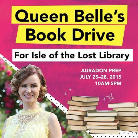 File:Queen Belle's Book Drive.jpg