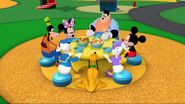 Mickey and friends at the table