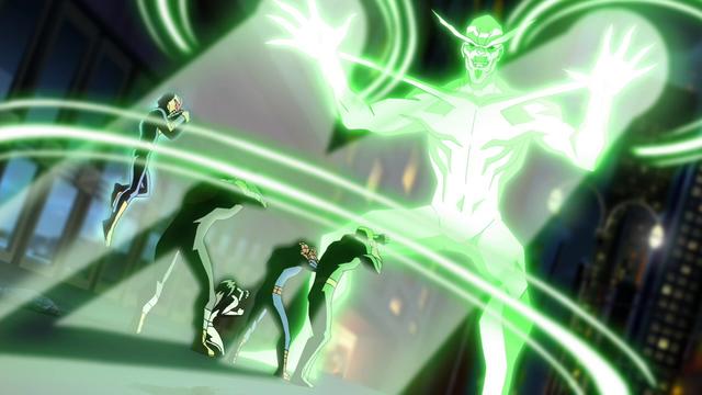 File:Living Laser takes on Spider-Man's team USM.png