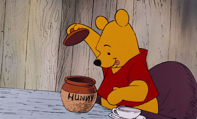 File:Winnie the Pooh is about to help himself to the honey.jpg