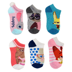 Zootopia Girls' 6-Pack No-Show Socks