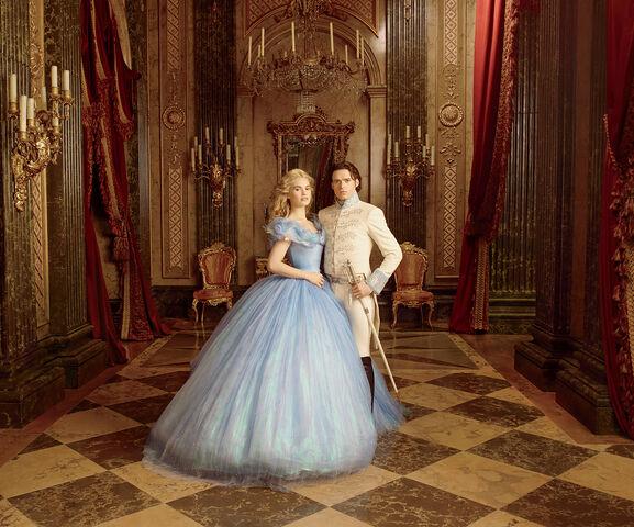 File:Cinderella (2015) - Promotional Image - Cinderella and Prince Charming.jpg