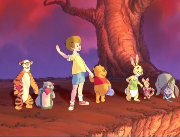 File:Winnie the Pooh - Christopher Robin with Cast.jpg