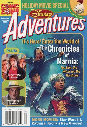 File:Disney Adventures Magazine cover Dec Jan 2006 Chronicles of Narnia.jpg