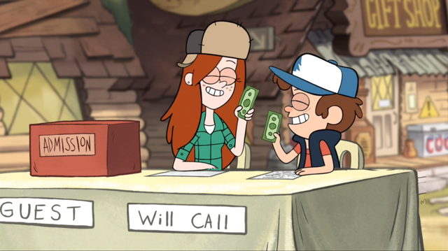 File:640px-S1e3 wendy and dipper holding money.png