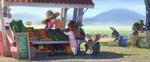 Judy Selling Vegtables