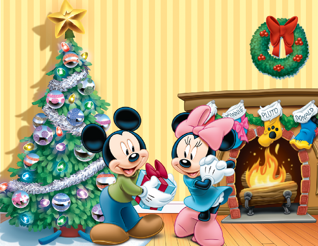 File:Mickey and Minnie Christmas Poster.png
