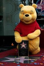 Pooh on the walk of fame
