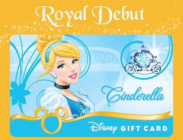 File:Cinderella Royal Debut Disney Gift Card.jpg