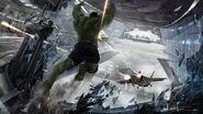 Hulk attacks Jet Concept Art