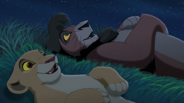 File:Kiara and Kovu starwatching on the grass.jpg