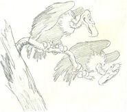 Disney 1937 SnowWhite+7Dwarfs orig.storyboard.sketch Vultures.JPG - Version 3