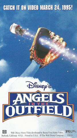 File:Disney's Angels in the Outfield - 1995 Promotional Print Ad - VHS Poster.jpg
