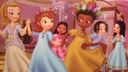 Sofia having a royal slumber party