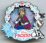 DLP - Frozen pin with Anna and Olaf