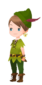 File:Peter Pan Costume Kingdom Hearts χ.png