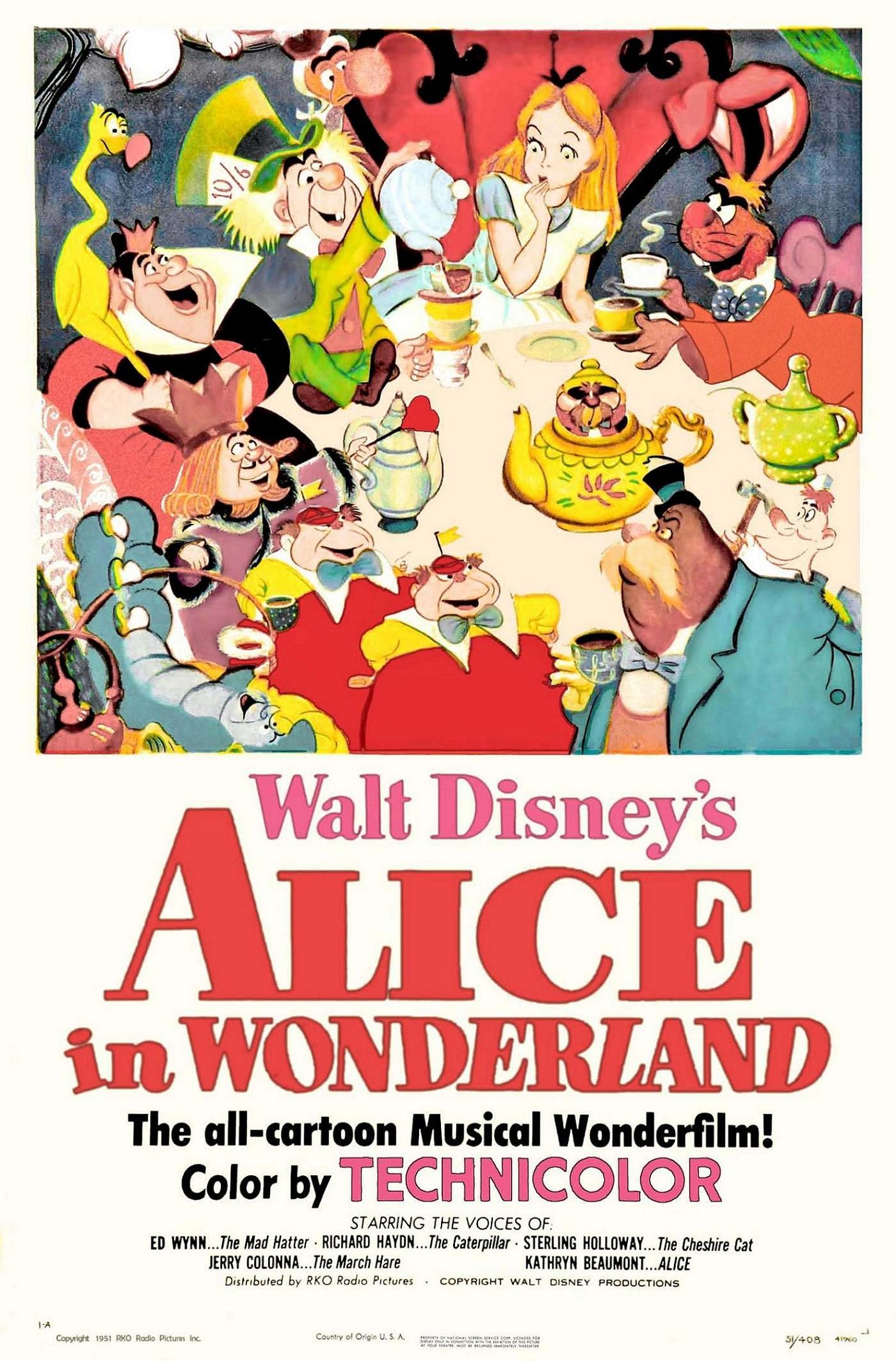 Alice in wonderland 1951 film disney wiki fandom powered by wikia