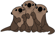 Sea Otters (Finding Dory) Clipart