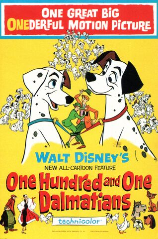 Fișier:One Hundred and One Dalmatians movie poster.jpg