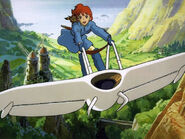 Nausicaa on her glider