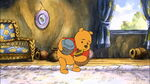 Winnie the Pooh is gathering honey pots